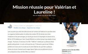 Mission réussie pour Valérian et Laureline !
