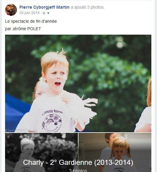 Juin 2014, la fin de l'école gardienne pour Charly