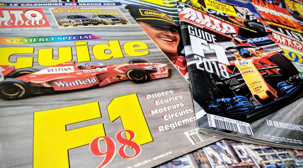 Guide F1 - AutoHebdo 1998 - 2018