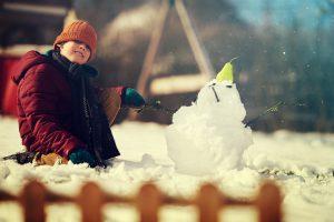 Jardin, encore sous la neige