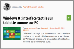 Windows 8 : interface tactile sur tablette comme sur PC