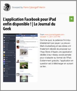 Facebook débarque sur iPad