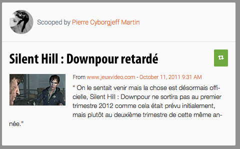Scoop : Silent Hill Downpour reporté au printemps 2012