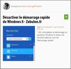 Désactiver le démarrage rapide de Windows 8