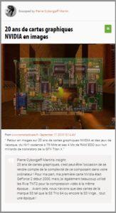 l'histoire des cartes graphiques NVIDIA en images