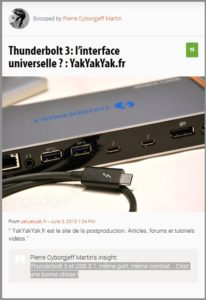 Thunderbolt 3: l'interface universelle ?