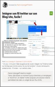 Intégrer son fil twitter sur son Blog/site, facile !