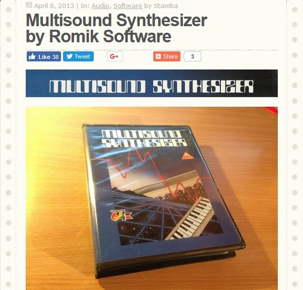 Multisound Synthesizer by Romik Software