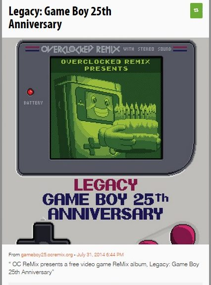 Legacy: Game Boy 25th Anniversary