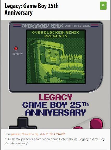 Legacy: Game Boy 25th Anniversary
