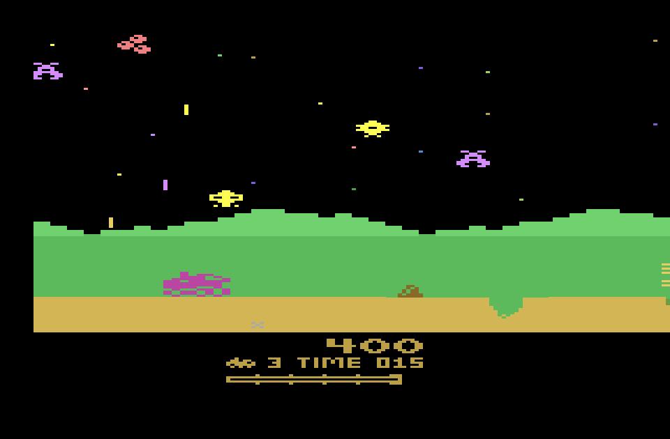 Moon Patrol - Atari 2600 (Atari - Irem, 1983)