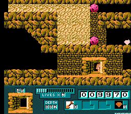 Digger T. Rock: Legend of the Lost City - NES (Rare - Milton Bradley, 1990)