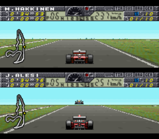 F1 Pole Position 2 - SNES (Human Ent, 1993)