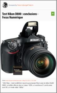 Le Test du Nikon D800