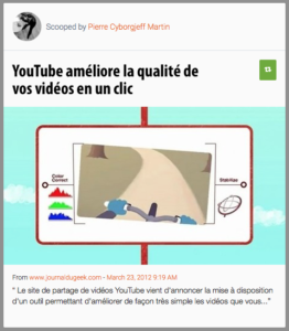 Youtube stabilise vos vidéos