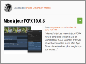 Mise à jour FCPX 10.0.6