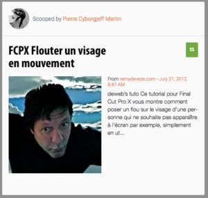 FCPX Flouter un visage en mouvement
