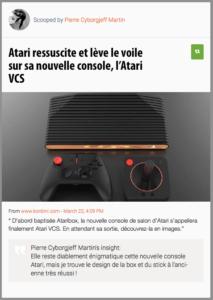 Elle reste diablement énigmatique cette nouvelle console Atari, mais je trouve le design de la box et du stick à l'ancienne très réussi !