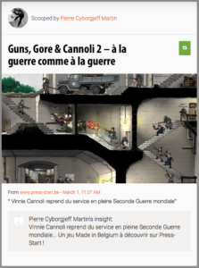 Vinnie Cannoli reprend du service en pleine Seconde Guerre mondiale... Un jeu Made in Belgium à découvrir sur Press-Start !