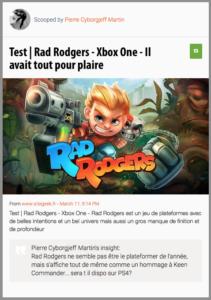 Rad Rodgers ne semble pas être le plateformer de l'année, mais s'affiche tout de même comme un hommage à Keen Commander... sera t il dispo sur PS4?