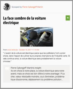 La face sombre de la voiture électrique