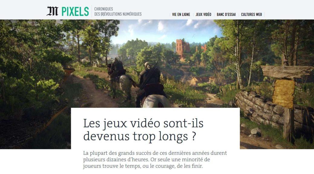 Les jeux vidéo sont-ils devenus trop longs ?