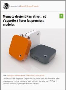 Memoto devient Narrative... et s'apprête à livrer les premiers modèles