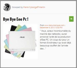 Bye, bye les EEE PC