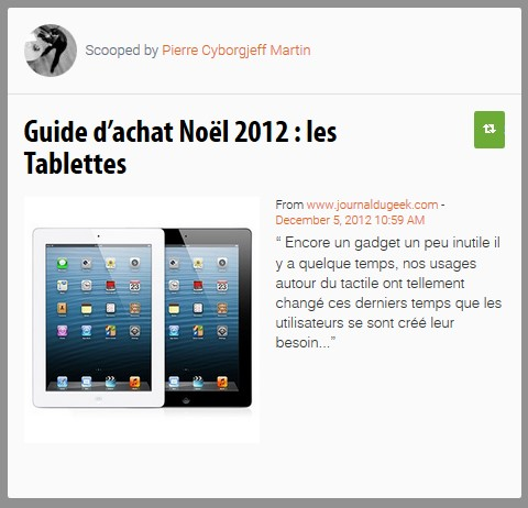 Le Guide des Tablettes, 2012