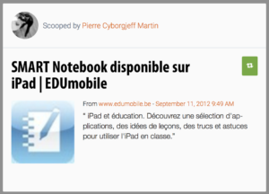 SMART Notebook disponible sur iPad