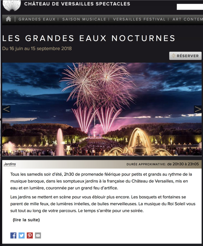 Spectacle Versailles
