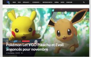 Pokemon Let's GO annoncé pour novembre