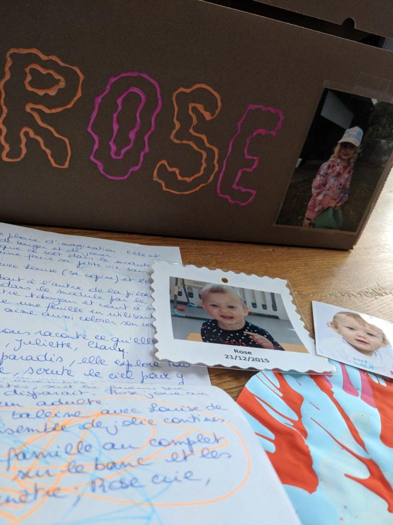 Rose, souvenirs de la crèche