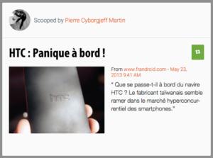 HTC, panique à bord
