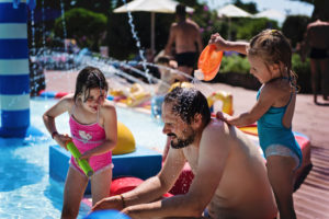 Dur dur d'être un papa en vacances- Camping Col Vert Sandaya