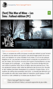 This War of Mine – Les Sims : Fallout édition