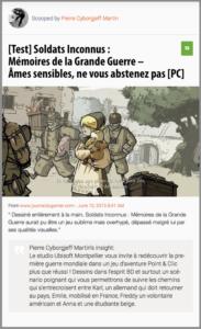 Soldats Inconnus : Mémoires de la Grande Guerre – Âmes sensibles, ne vous abstenez pas