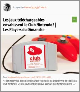 Les jeux téléchargeables envahissent le Club Nintendo !