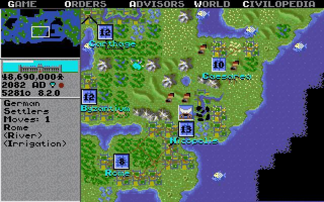 Sid Meier's Civilization - PC MSDOS (Microprose, 1991)