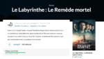 Les films du mois : Le Labyrinthe – Remède mortel