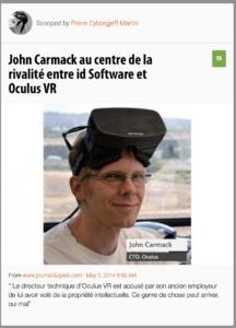 John Carmack au centre de la rivalité entre id Software et Oculus VR