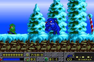 Jazz Jackrabbit: Holiday Hare 95 - PC MSDOS (Epic Mega Games, 1995)