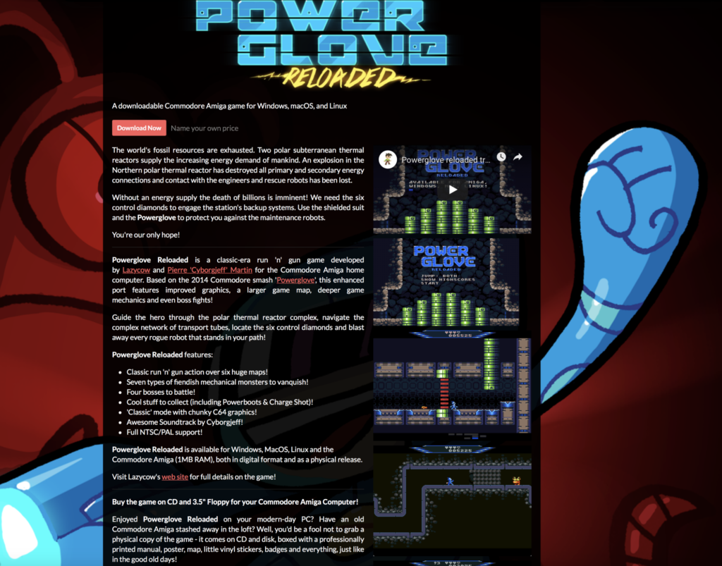 PowerGlove Reloaded sur Itch.io