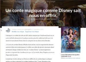 Un conte magique comme Disney sait nous en offrir.
