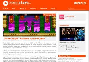 Shovel Knight : Premiers coups de pelle