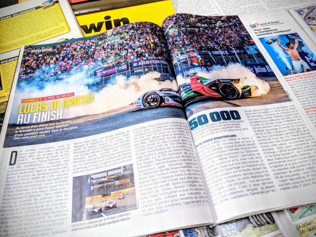 Presse - Formule E - 2019 - AutoHebdo - Luca Di Grassi