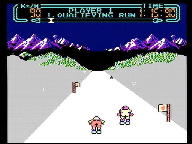 Slalom - NES (Rare - Nintendo, 1987)
