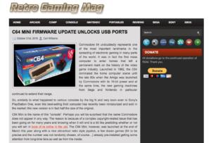 Mise à jour Firware du C64 Mini pour débloquer le port USB