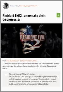 Resident Evil 2 : un remake plein de promesses