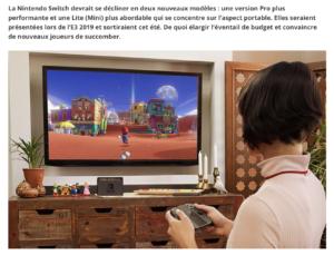 Nintendo Switch : sortie de deux nouvelles consoles à l'été 2019